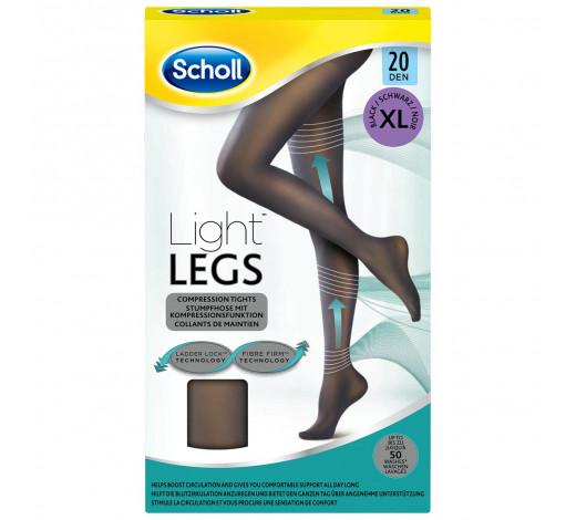 Scholl jambes légères Compression Collants taille XL 20 deniers noir
